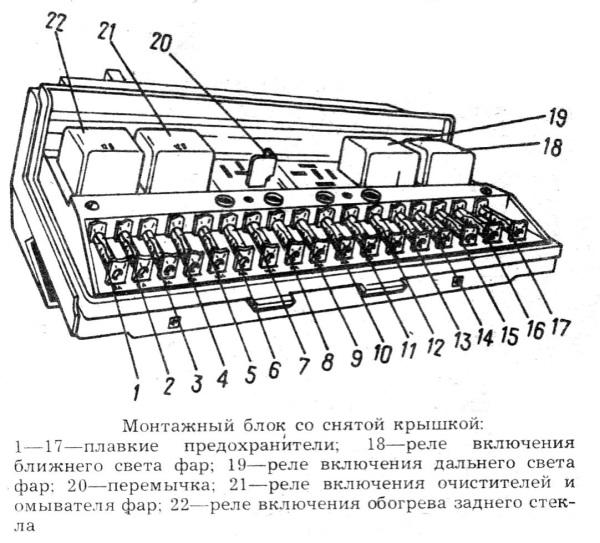 Rasshifrovka e1410425346428 - Схема предохранителей ваз 21053