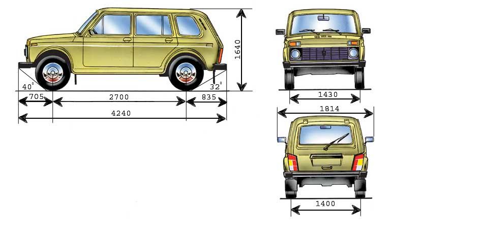 lada 2131 niva 04 - Технические характеристики нива 2131 пятидверка